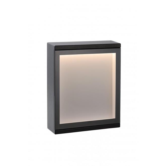 LUCIDE 27879/06/30 | Cadra Lucide zidna svjetiljka 1x LED 312lm 3000K IP54 crno, opal