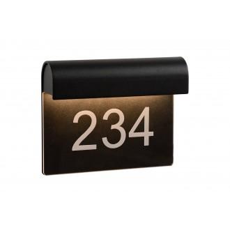 LUCIDE 27881/06/30 | Thesi Lucide zidna svjetiljka 1x LED 220lm 3000K IP54 crno