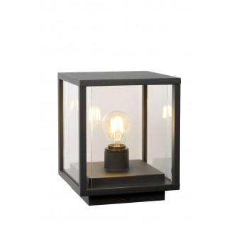 LUCIDE 27883/25/30 | ClaireL Lucide stolna svjetiljka 24,5cm 1x E27 IP54 crno, prozirno