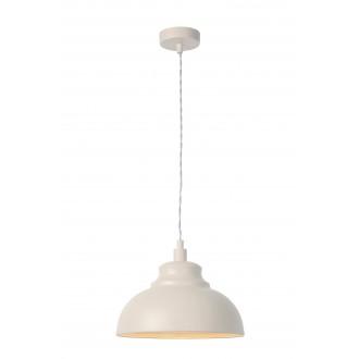 LUCIDE 34400/29/38 | IslaL Lucide visilice svjetiljka s mogućnošću skraćivanja kabla 1x E14 bež, bijelo