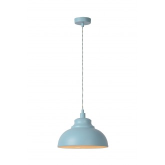 LUCIDE 34400/29/68 | IslaL Lucide visilice svjetiljka s mogućnošću skraćivanja kabla 1x E14 svjetlo plava, bijelo