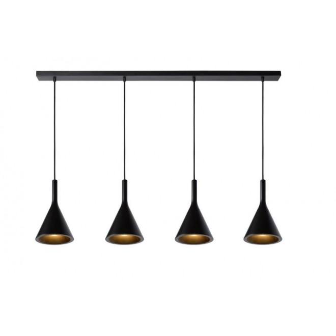 LUCIDE 35410/04/30 | Gipsy-LU Lucide visilice svjetiljka može se bojati 4x E27 crno