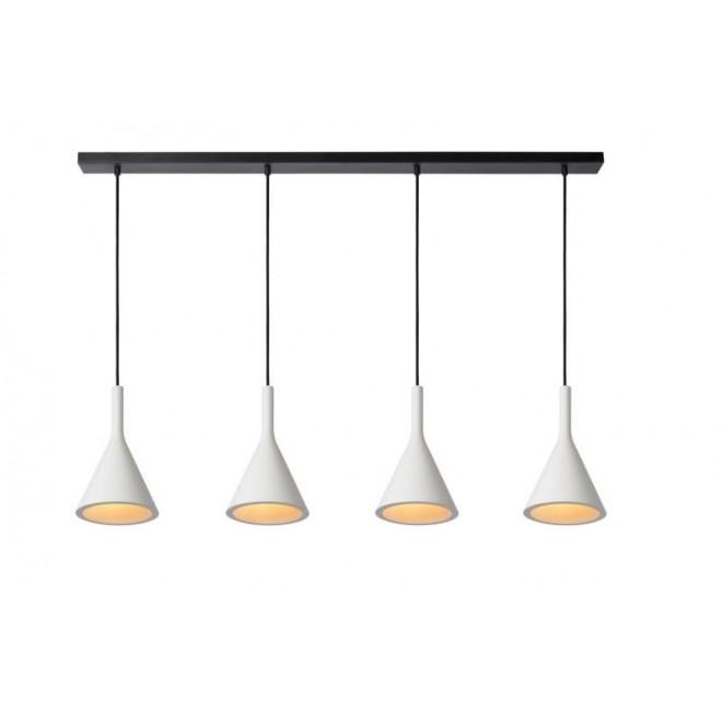 LUCIDE 35410/04/31   Gipsy-LU Lucide visilice svjetiljka može se bojati 4x E27 bijelo