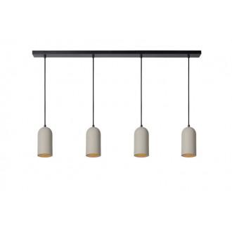 LUCIDE 35411/04/41 | Gipsy-LU Lucide visilice svjetiljka može se bojati 4x E27 crno, sivo