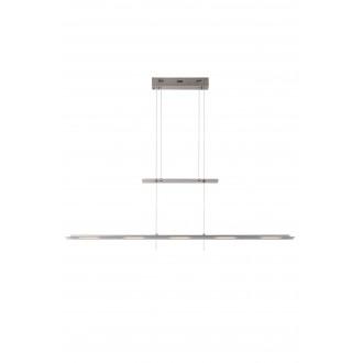 LUCIDE 36403/30/12 | Nova Lucide visilice svjetiljka sa tiristorskim prekidačem balansna - ravnotežna, sa visinskim podešavanjem 5x LED 2100lm 3000K krom saten