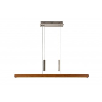 LUCIDE 36417/30/72 | Geena Lucide visilice svjetiljka sa tiristorskim prekidačem balansna - ravnotežna, sa visinskim podešavanjem 1x LED 2550lm 2700K drvo, krom
