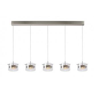 LUCIDE 48452/25/12 | Shana Lucide visilice svjetiljka s mogućnošću skraćivanja kabla 5x LED 1600lm 3000K krom, prozirno