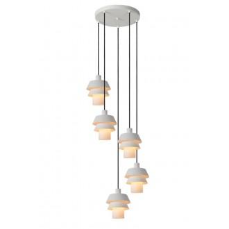 LUCIDE 70481/05/31 | Jaden-LU Lucide visilice svjetiljka s mogućnošću skraćivanja kabla 5x G9 bijelo
