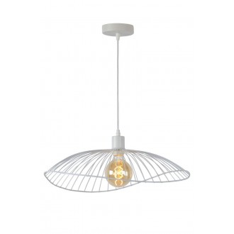 LUCIDE 72403/50/31 | Jing Lucide visilice svjetiljka s mogućnošću skraćivanja kabla 1x E27 bijelo