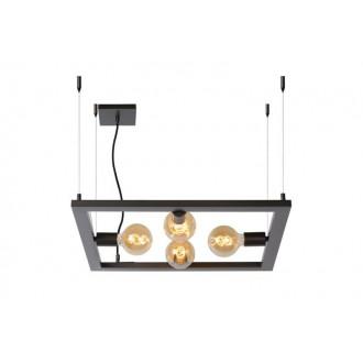 LUCIDE 73403/04/15 | Thor-LU Lucide stolna svjetiljka 130cm 4x E27 čelična siva
