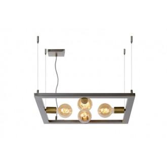 LUCIDE 73403/04/18 | Thor-LU Lucide stolna svjetiljka 130cm 4x E27 gvožđe