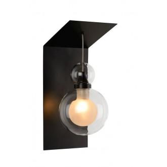 LUCIDE 77270/01/30 | Mads Lucide zidna svjetiljka 1x G9 crno, prozirno