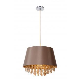 LUCIDE 78368/45/41 | Dolti Lucide visilice svjetiljka s mogućnošću skraćivanja kabla 1x E27 taupe, krom