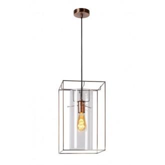 LUCIDE 78386/01/17 | Julot Lucide visilice svjetiljka s mogućnošću skraćivanja kabla 1x E27 bronca
