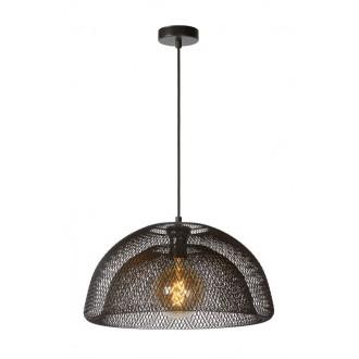 LUCIDE 78387/01/30 | Mesh Lucide visilice svjetiljka s mogućnošću skraćivanja kabla 1x E27 crno