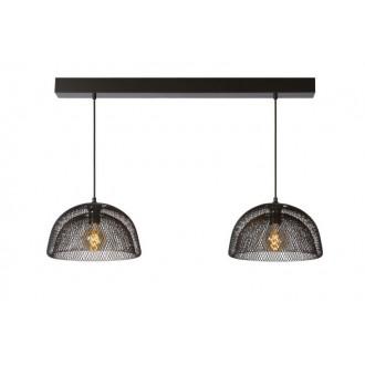 LUCIDE 78387/02/30 | Mesh Lucide visilice svjetiljka s mogućnošću skraćivanja kabla 2x E27 crno