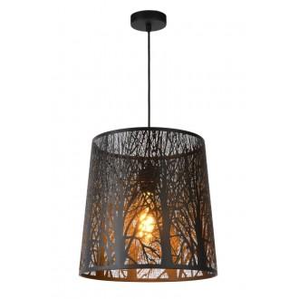 LUCIDE 78481/35/30 | Garell Lucide visilice svjetiljka s mogućnošću skraćivanja kabla 1x E27 crno