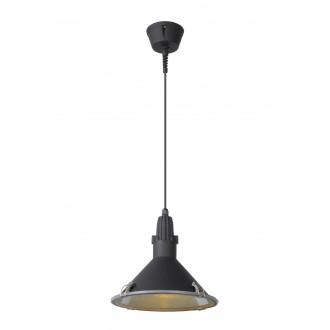 LUCIDE 79459/25/30 | Tonga Lucide visilice svjetiljka 1x E27 IP44 crno, prozirno