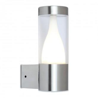 LUTEC 5008101001 | Virgo-LU Lutec zidna svjetiljka 1x LED 350lm 3000K IP44 plemeniti čelik, čelik sivo, prozirno