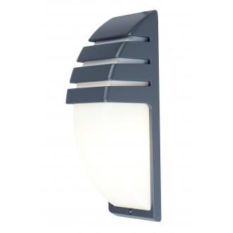 LUTEC 5183601118 | City-LU Lutec zidna svjetiljka 1x E27 IP44 antracit siva, opal