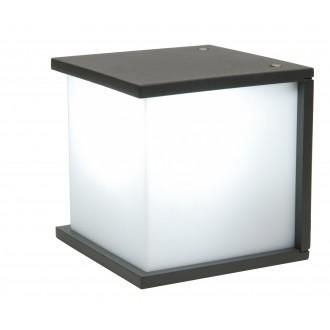 LUTEC 5184601118 | Box-Cube Lutec zidna svjetiljka 1x E27 IP44 antracit siva, opal