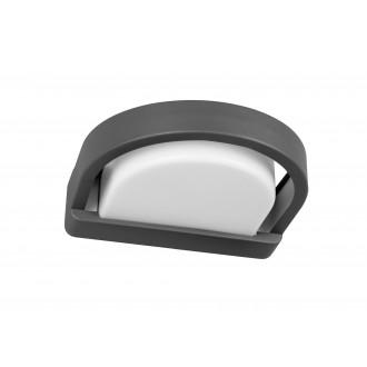 LUTEC 5184901118 | Origo Lutec zidna svjetiljka 1x E27 IP54 antracit siva, opal
