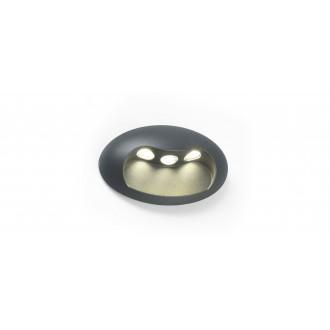 LUTEC 5186004118 | Eyes Lutec zidna svjetiljka 1x LED 370lm 4000K IP54 antracit siva, prozirno