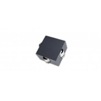 LUTEC 5186304118 | Evans Lutec zidna svjetiljka 1x LED 222lm 4000K IP54 antracit siva, prozirno