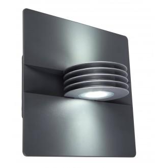 LUTEC 5187901000 | Split-LU Lutec zidna svjetiljka 1x LED 480lm 4000K IP44 antracit siva, prozirno
