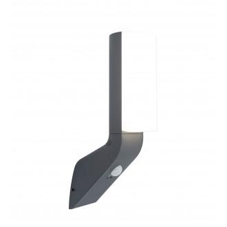 LUTEC 5188602125 | Bati Lutec zidna svjetiljka sa senzorom, svjetlosni senzor - sumračni prekidač 1x LED 1100lm 4000K IP44 tamno sivo, opal