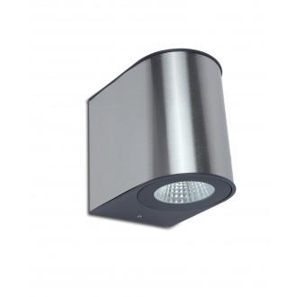 LUTEC 5189001118 | Gemini Lutec zidna svjetiljka 1x LED 1240lm 4000K IP54 srebrna siva, prozirno