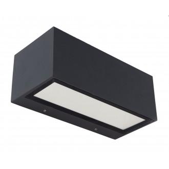 LUTEC 5189101118 | Gemini Lutec zidna svjetiljka 1x LED 1230lm 4000K IP54 crno, prozirno