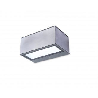 LUTEC 5189103118 | Gemini Lutec zidna svjetiljka 1x LED 500lm 4000K IP54 plemeniti čelik, čelik sivo, prozirno