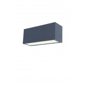 LUTEC 5189104118 | Gemini Lutec zidna svjetiljka 1x LED 3300lm 4000K IP54 antracit siva, prozirno