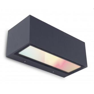 LUTEC 5189111118 | WiZ-Gemini Lutec zidna WiZ smart rasvjeta jačina svjetlosti se može podešavati, sa podešavanjem temperature boje, promjenjive boje, elementi koji se mogu okretati, spajanje na Wi-Fi 1x LED 900lm 2200 <-> 6500K IP54 crno, prozirno