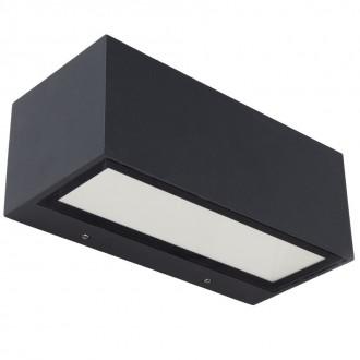 LUTEC 5189112118 | Gemini Lutec zidna svjetiljka 1x LED 1230lm 3000K IP54 crno, prozirno