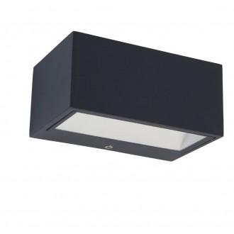LUTEC 5189113118 | Gemini Lutec zidna svjetiljka 1x LED 500lm 3000K IP54 antracit siva, prozirno
