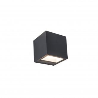 LUTEC 5189114118 | Gemini Lutec zidna svjetiljka 1x LED 850lm 4000K IP54 tamno siva