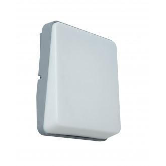 LUTEC 5189401112 | Even Lutec zidna svjetiljka 1x LED 650lm 3000K IP54 srebrna siva, opal