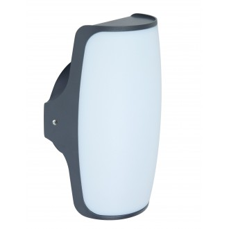 LUTEC 5189901118 | Seco Lutec zidna svjetiljka 1x LED 770lm 3000K IP54 antracit siva, opal