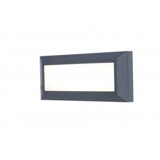 LUTEC 5191601118 | Helena-LU Lutec zidna svjetiljka 1x LED 400lm 4000K IP54 antracit siva, opal