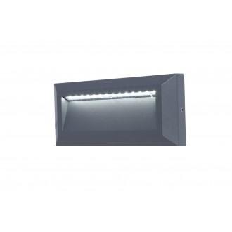 LUTEC 5191602118 | Helena-LU Lutec zidna svjetiljka 1x LED 400lm 4000K IP54 antracit siva, opal