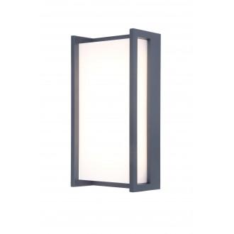 LUTEC 5193001118 | Qubo Lutec zidna svjetiljka 1x LED 1100lm 3000K IP54 antracit siva, opal
