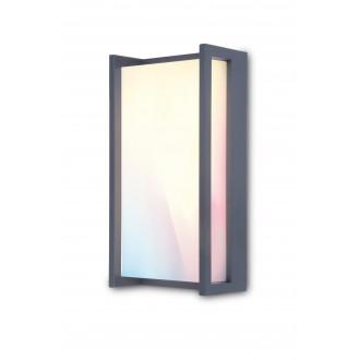LUTEC 5193003118 | WiZ-Qubo Lutec zidna WiZ smart rasvjeta jačina svjetlosti se može podešavati, sa podešavanjem temperature boje, promjenjive boje, elementi koji se mogu okretati, spajanje na Wi-Fi 1x LED 1000lm 2200 <-> 6500K IP54 antracit siva, o