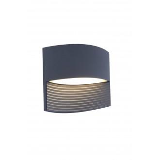 LUTEC 5193201118 | Lotus-LU Lutec zidna svjetiljka 1x LED 500lm 3000K IP54 antracit siva, prozirna