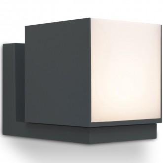 LUTEC 5193803118 | Cuba-LU Lutec zidna svjetiljka elementi koji se mogu okretati 1x LED 600lm 3000K IP54 tamno siva, opal