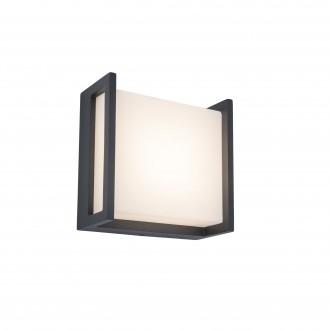 LUTEC 5195401118 | Qubo Lutec zidna svjetiljka 1x LED 650lm 3000K IP54 tamno siva, opal