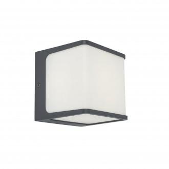 LUTEC 5197002125 | Doblo-LU Lutec zidna svjetiljka 1x LED 800lm 3000K IP54 tamno siva, opal