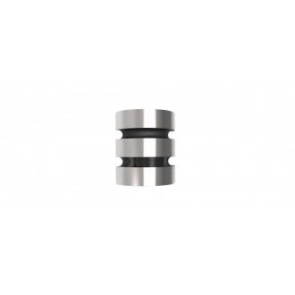LUTEC 5198401001 | Maya-LU Lutec zidna svjetiljka sa senzorom, svjetlosni senzor - sumračni prekidač 1x LED 1000lm 3000K IP44 plemeniti čelik, čelik sivo
