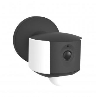 LUTEC 5198801330 | Camera_Light-Ara Lutec lampa sa kamerom zidna sa senzorom, svjetlosni senzor - sumračni prekidač zvučnik, mikrofon, jačina svjetlosti se može podešavati, elementi koji se mogu okretati, spajanje na Wi-Fi 1x LED 200lm 4000K IP44 tamno si